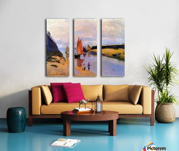 Port of Trouville by Monet Split Canvas print