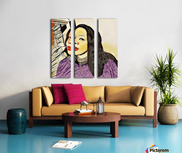 Cindy Violet Split Canvas print