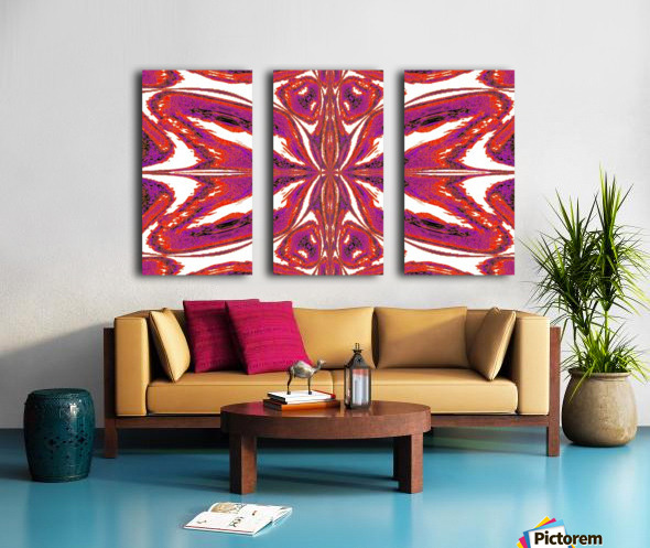 Butterfly of Pink Split Canvas print
