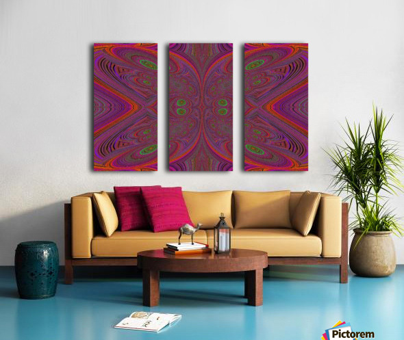 Digital Butterfly Purple Orange  Split Canvas print
