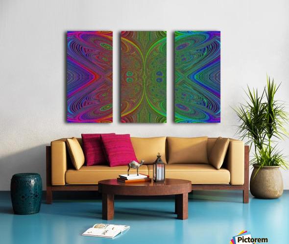 Digital Butterfly Rainbow 1 Split Canvas print