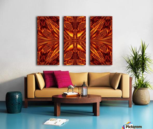Fire Butterfly  Split Canvas print