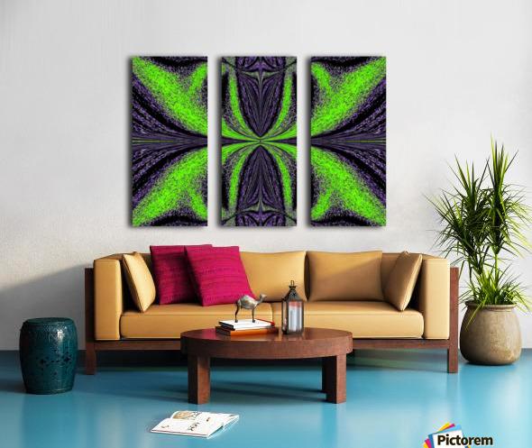 Green Butterfly 3 Split Canvas print