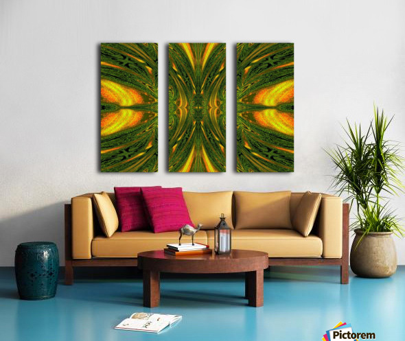Green Mystical Butterfly 1 Split Canvas print