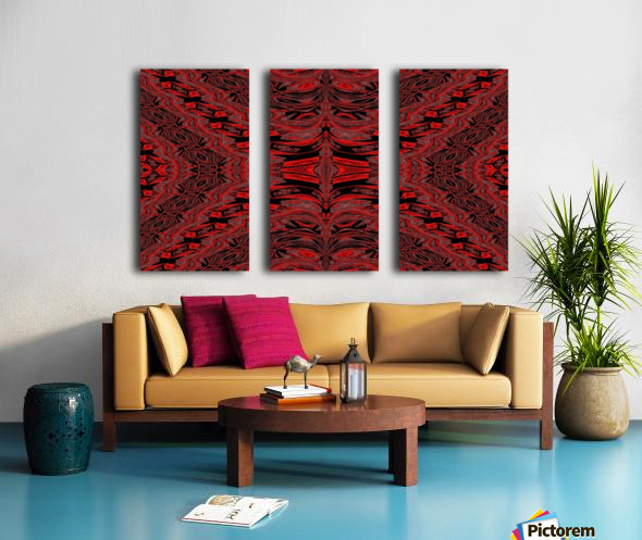 Red Velvet Butterfly Split Canvas print