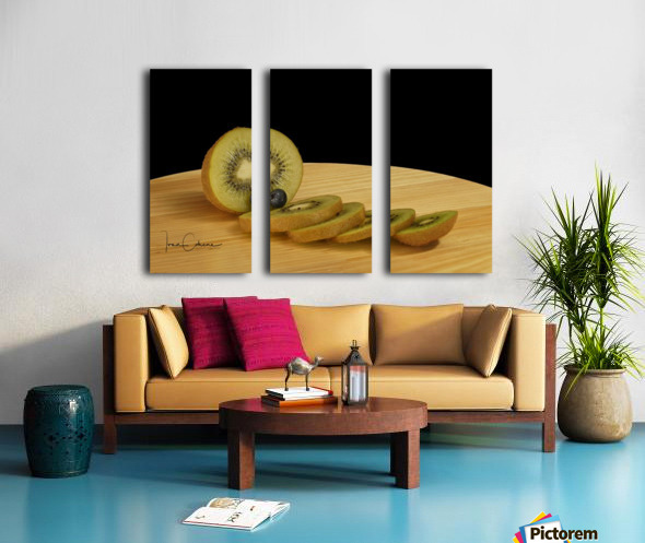Kiwi Split Canvas print