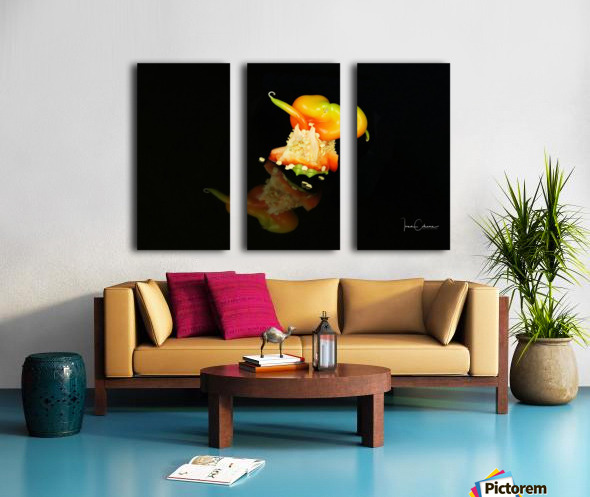 Red Pepper Split Canvas print