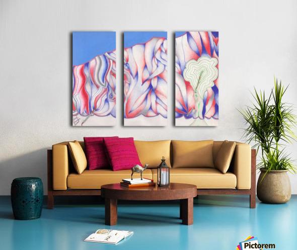 the color of Rain Split Canvas print
