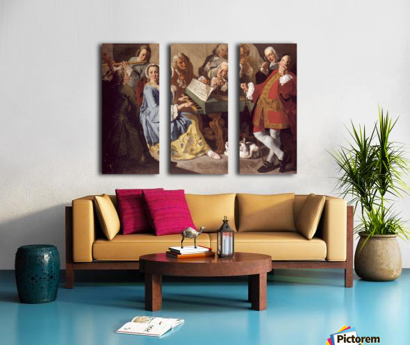 Das Konzert Split Canvas print