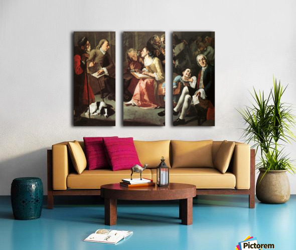 The drawing room 1750 Split Canvas print