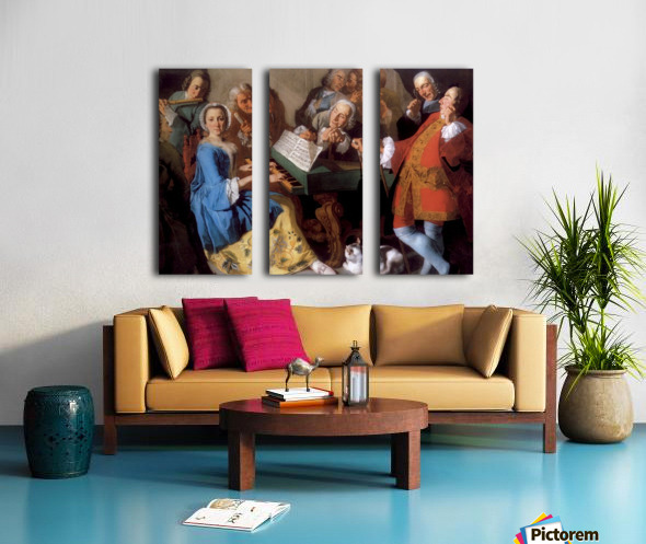 Konzert Split Canvas print