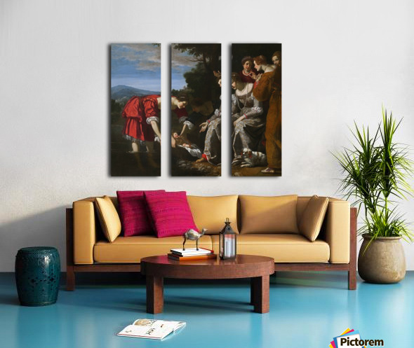 The discovery of Moses Split Canvas print