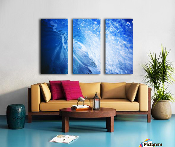 Hawaii, Oahu, Perfect Wave At Pipeline. Split Canvas print