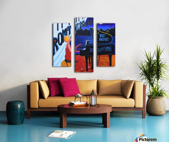 Romantika Piano Canvas print