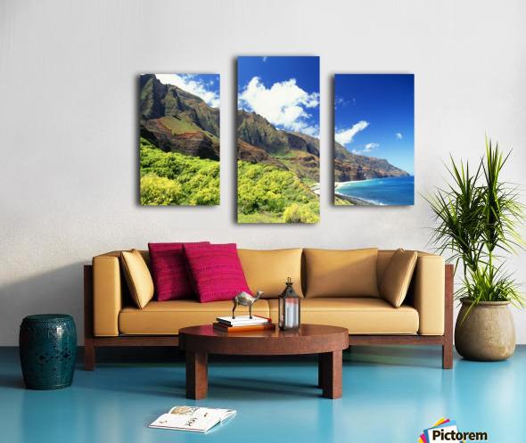 Hawaii, Kauai, Napali Coast, Kalalau Valley, Secluded Beach Canvas print