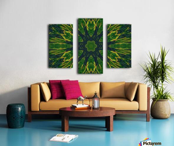 Green Flower 4 Canvas print