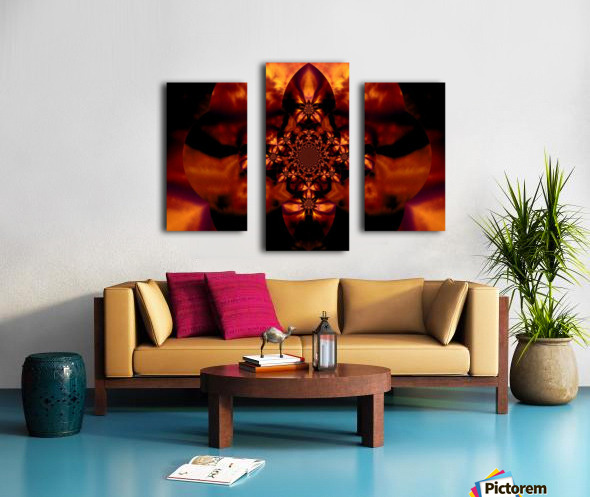 Fire Orchid 1 Canvas print