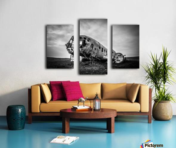Plane wreck B&W Canvas print