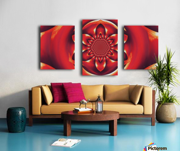 Red Fire Flower 1 Impression sur toile