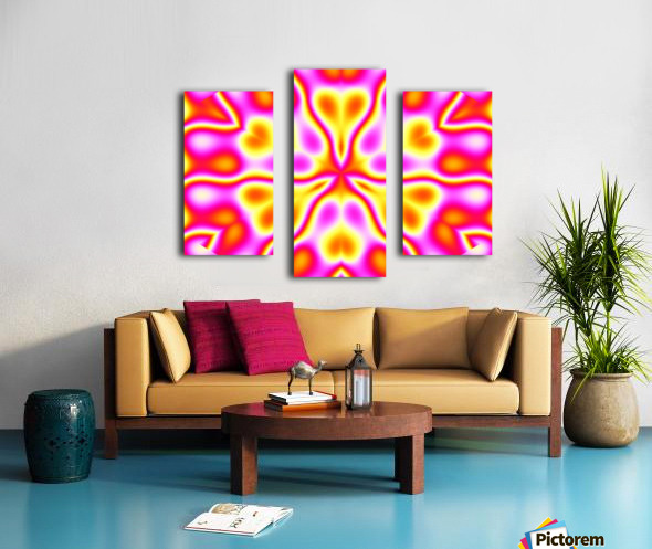 California Wildflowers in Pink and Yellow Canvas print