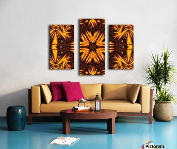 Golden Dandelion Canvas print