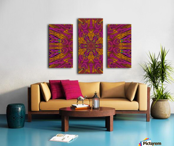 Pink Orange Jasmine Canvas print