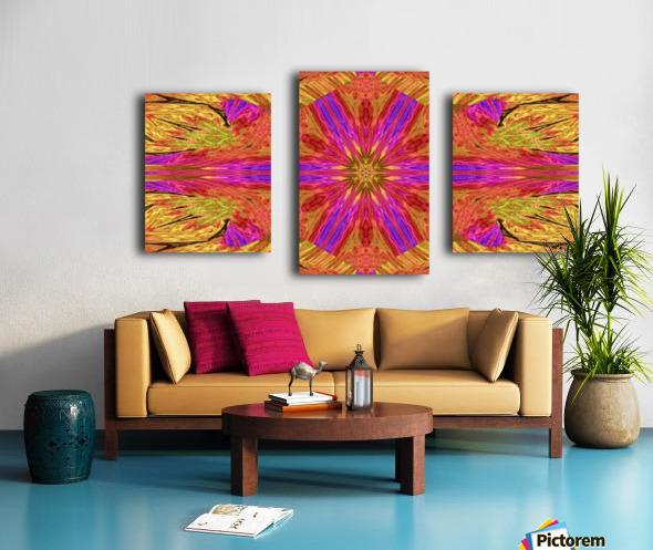 Star Flower in Pink Canvas print