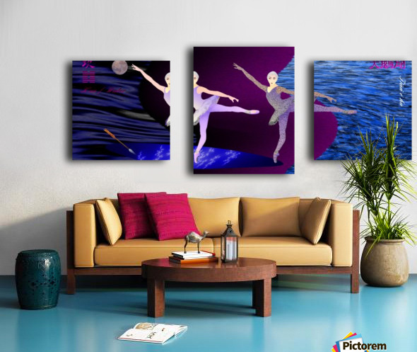 Dance of the Swans Canvas print