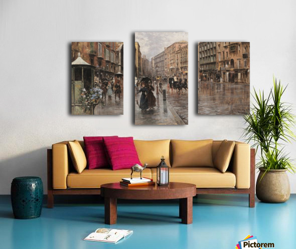 Napoli, Via Toledo Impression sur toile