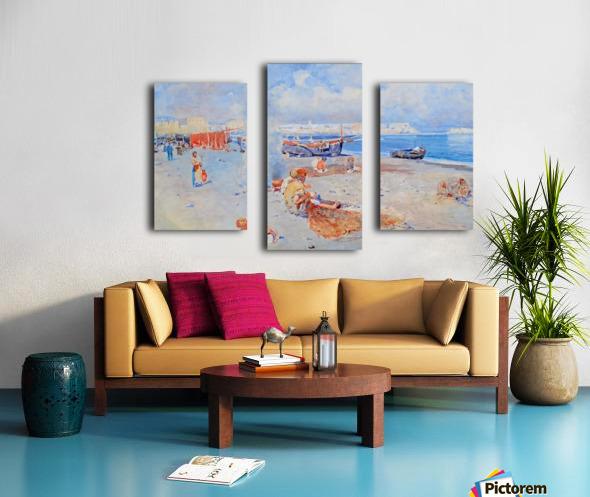 Beach of Mergellina Impression sur toile