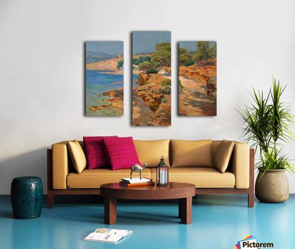 Landscape along the Italian coast Impression sur toile