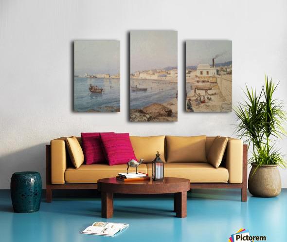 Marina di Napoli Impression sur toile