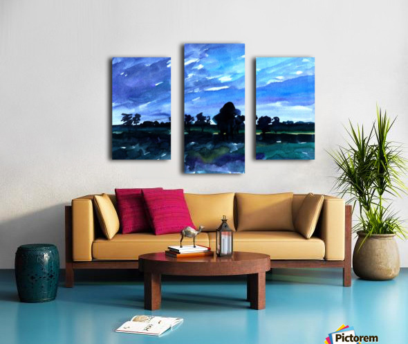 morning landscape 2 Canvas print