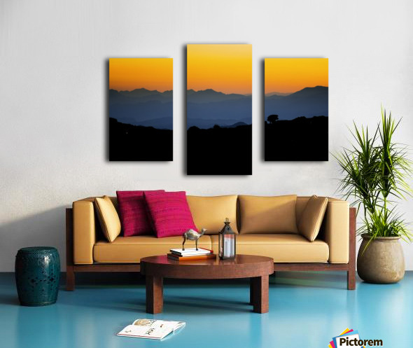 Layer of dawn Canvas print
