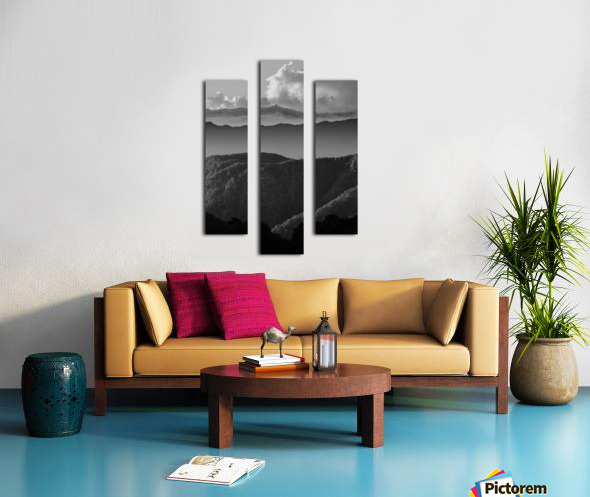 Layers of grey Canvas print