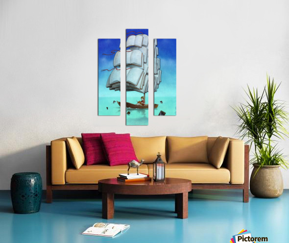 Journey with sharks Canvas print