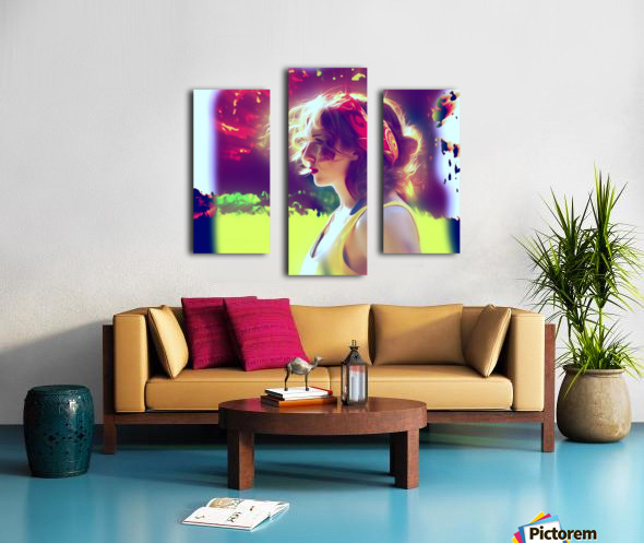 girlBRIGHTsun Canvas print