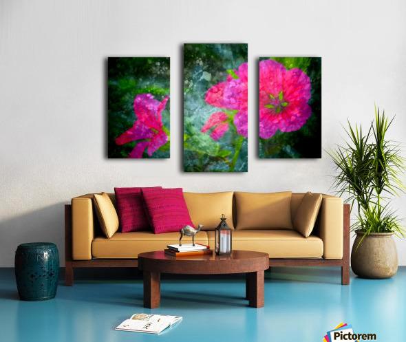 Fleurs d'artifices Canvas print