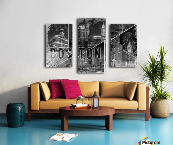 BOSTON Urban Collage No. 1 Canvas print