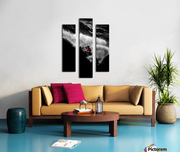 Dark Freeride Canvas print