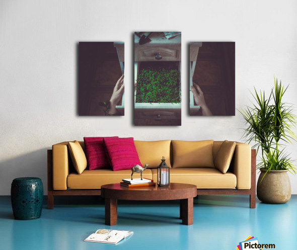 Avoir la main verte Canvas print