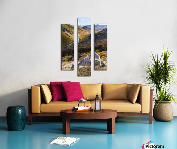 Savage River and the landscape in the rocky high country, Denali National Park and Preserve, interior Alaska; Alaska, United States of America Canvas print