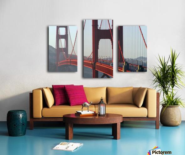 R.Watts; Golden Gate Bridge, San Francisco, Ca Canvas print