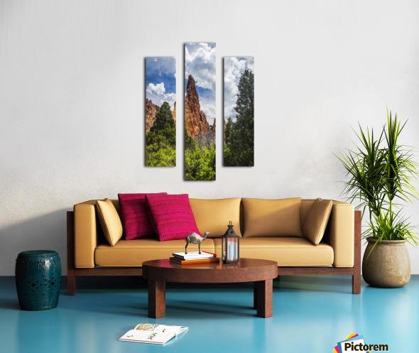 Garden of the Gods; Colorado Springs, Colorado, United States of America Canvas print
