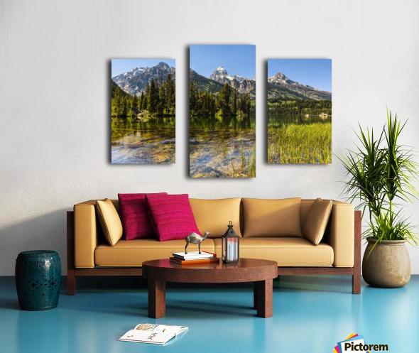 Taggart Lake and Grand Teton, Grand Teton National Park; Wyoming, United States of America Canvas print