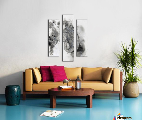 Illustration of an elephant's head Canvas print