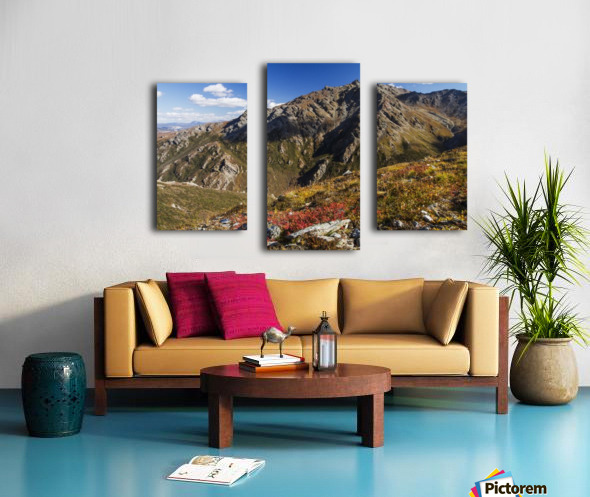 Landscape in the rocky high country of Denali National Park and Preserve, interior Alaska; Alaska, United States of America Canvas print