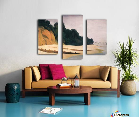 Shore scene with tree silhouette by Felix Vallotton Canvas print