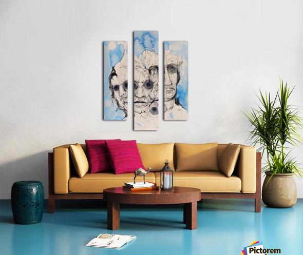 Illustration of a composite of men's faces Canvas print