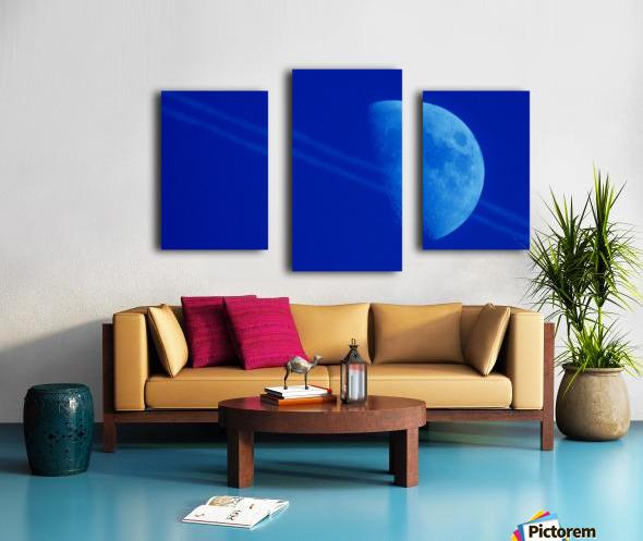 Moon lines Canvas print
